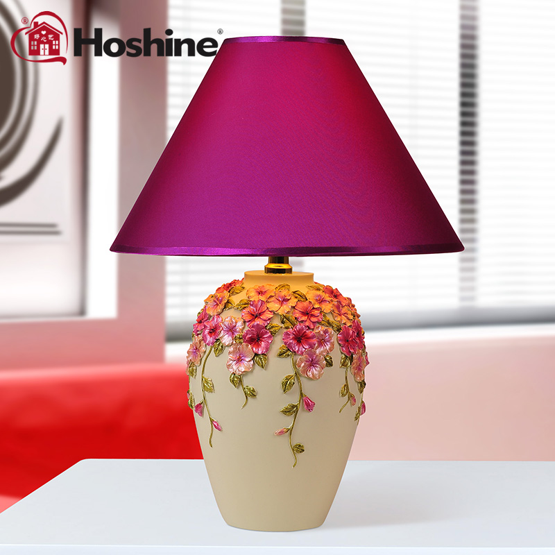 Hoshine Modern Decorative Abajur Purple Flower Led Table