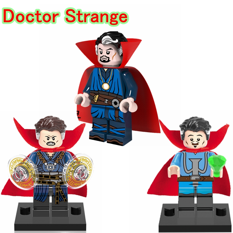 ZXZ Doctor Strange DIY blocks Single Sale Marvel Comics Super Heroes Multiverse Models & Building Toys Blocks Children