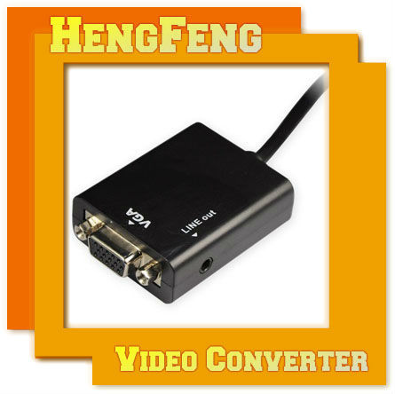 HDMI Male to VGA Female Audio Component Converter HD 1080P Chipset Built-in