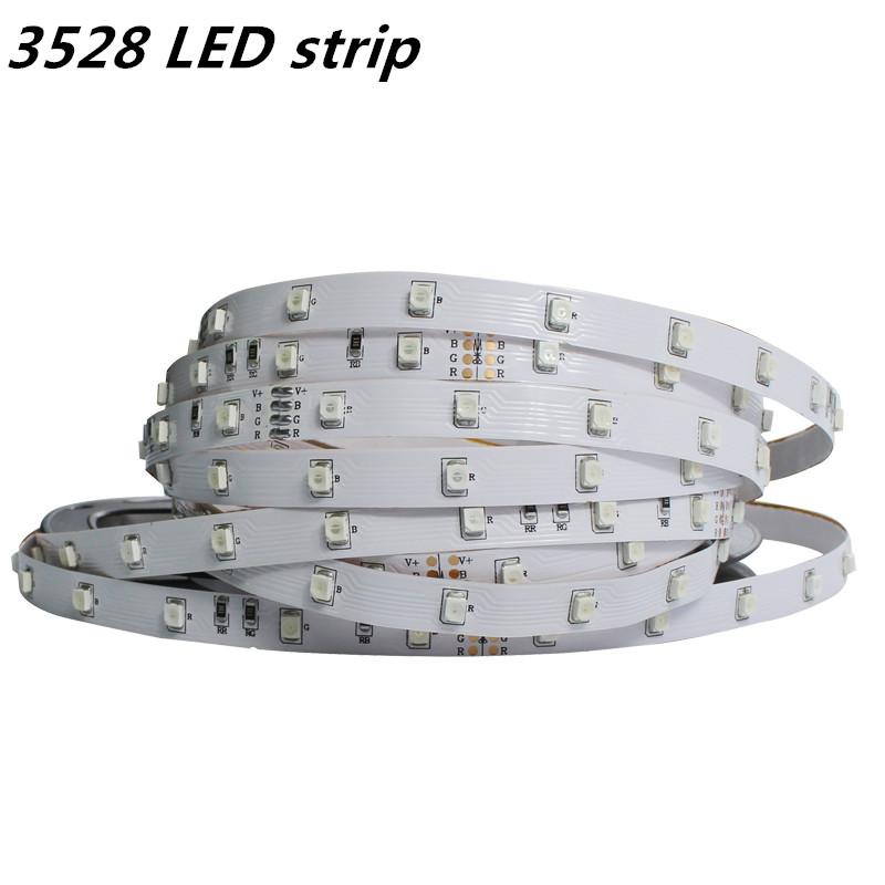 Hot sale 5M 300Leds Not waterproof RGB Led Strip Light 3528 DC12V 60Leds/M Fiexble Light Led Ribbon Tape Home Decoration Lamp(China (Mainland))