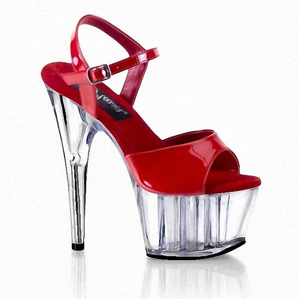 clear 6 inch high heel mid platform sandals 15cm high