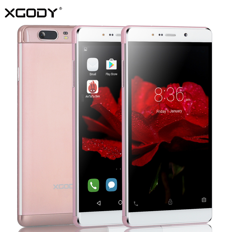 XGODY 6 inches Smartphone Quad Core 1GB RAM+16GB ROM with Phone Case Dual SIM Cards 13.0MP Camera GPS 3G Unlocked Cell Phone(China (Mainland))