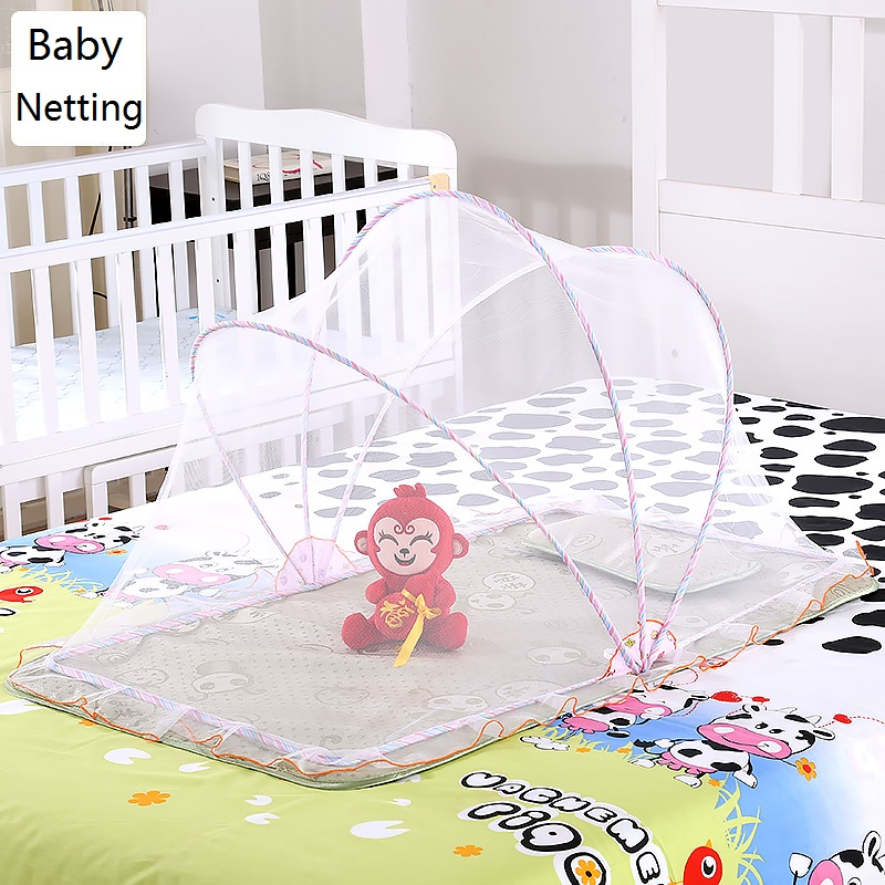 Folding Type Baby Mosquito net Cover Folding Baby Crib Netting,Barraca Infantil;Large:128(L)*65(W)*70(H)/Small:98(L)*55(W)*60(H)(China (Mainland))