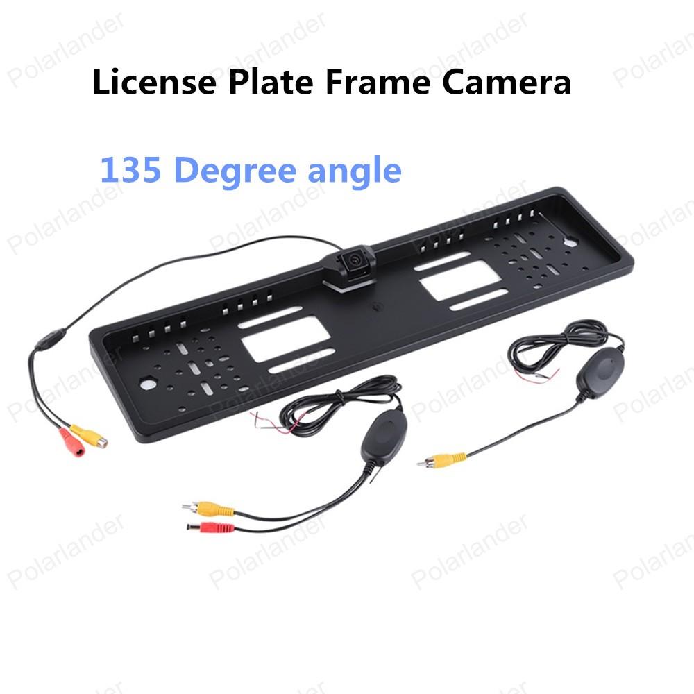 hot sell CMOS 1030 Image sensor Wireless Europe Car Backup Licence Plate Frame Rear View Camera(China (Mainland))