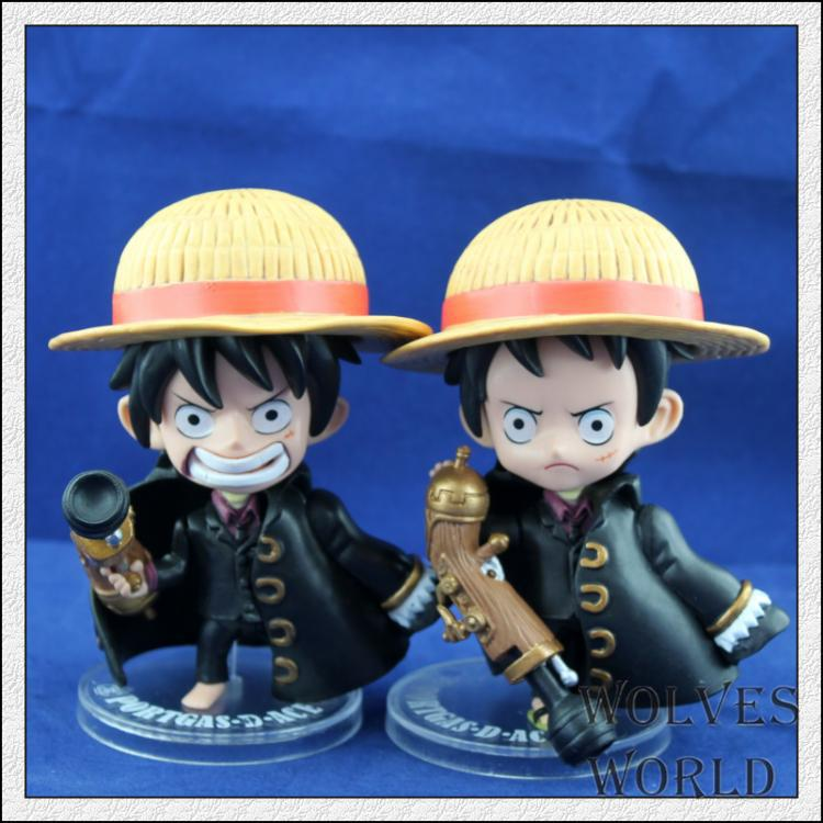 Children's toys animation wholesale One Piece toys dolls black Luffy Gunner(China (Mainland))