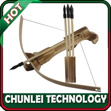 Hunting W/3 Arrow+Quiver Wood Kid/Children/Youth Cross Bow Toy Gun Set Wooden Archery Crossbow
