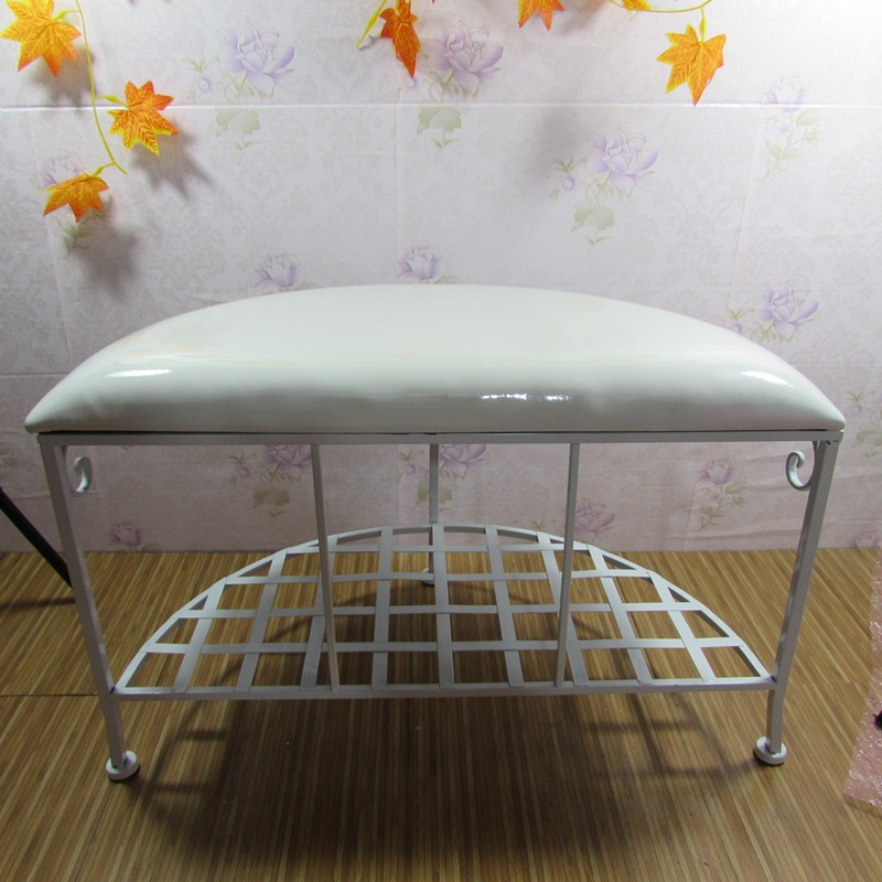 2017 antique antirust iron ottoman foolstool for living room footrest for bedroom