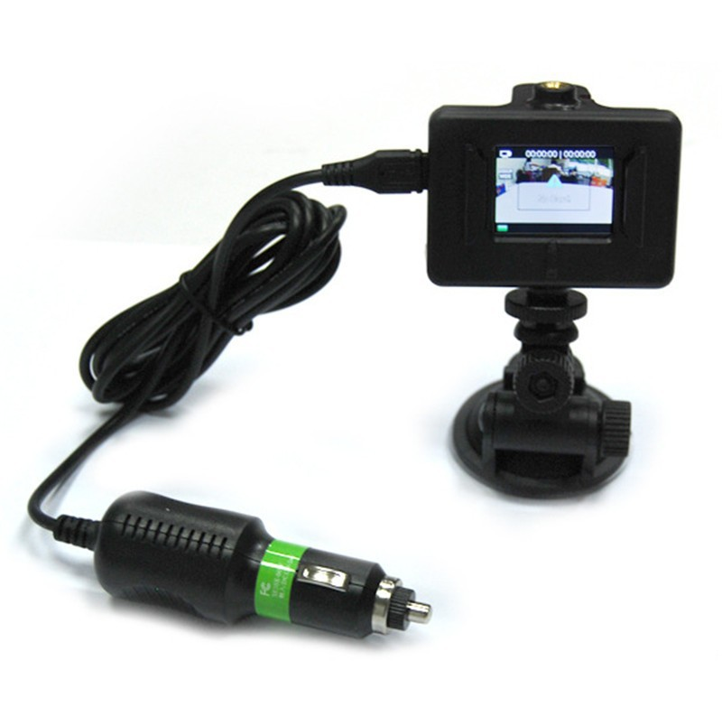 image for New Hot 2015 SJ4000 DC5V 1000mA Car Charger + Car Suction Cup Mount Fo