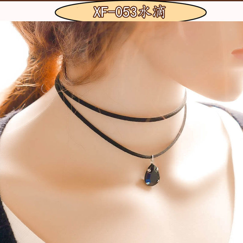 Gothic jewelry black rose necklace & pendant false collar handmade jewelry women accessories choker necklaces for women jewelry(China (Mainland))