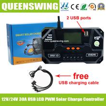 Горячая 48 В 60A жк MPPT контроллер заряда солнечная батарея контроллер заряда аккумулятор регулятор для солнечной системы ( QWM-4860CAP )