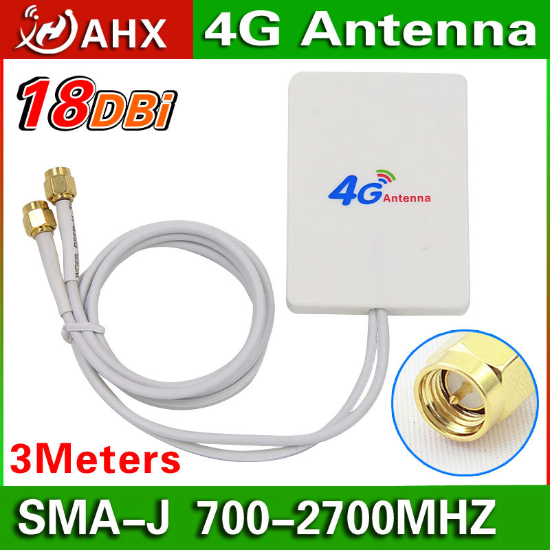 4G Antenna Huawei LTE Router Antenna high gain aerial double slider SMA-J connector 3meter wire(China (Mainland))