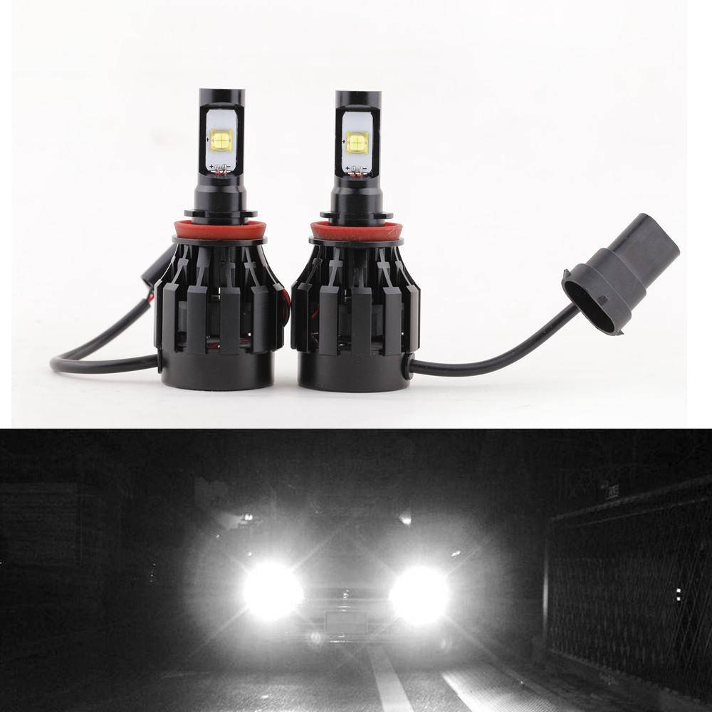 2PCS/lot 30W/Bulb 6000LM Auto H8 Cree LED Headlights Bulb 6000K-6500K White Lamp All in One Aluminum Alloy 360 Degree DC 12-24V(China (Mainland))