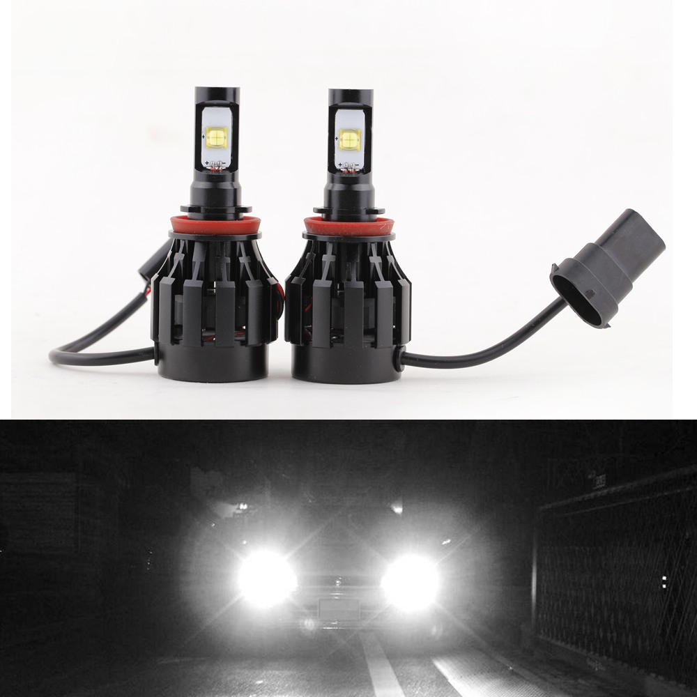 2PCS/lot 30W/Bulb 6000LM Auto H8 Cree LED Headlights Bulb 6000K-6500K White Lamp All in One Aluminum Alloy 360 Degree DC 12-24V(China (Mainland))
