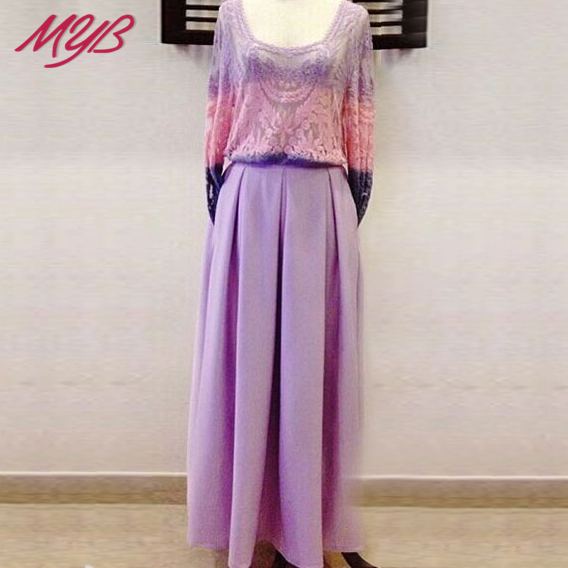 Luxury Maxi Long Skirt With Pockets Plus Size Muslim Islamic Women Clothing