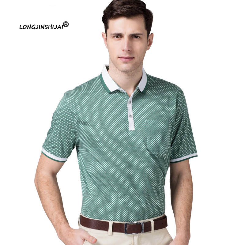 2016 new men polo shirts solid polo shirt casual business for Business casual polo shirt