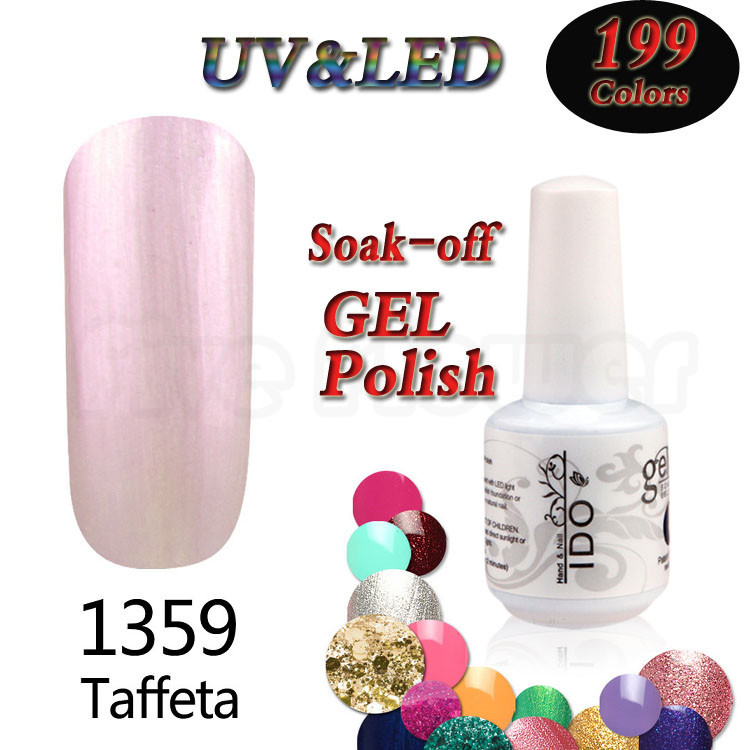 Pink colored french manicure UV gel nail polish ibd canni glue makeup verniz gelesmalte lacquer heathly 199 colors 15ML(China (Mainland))
