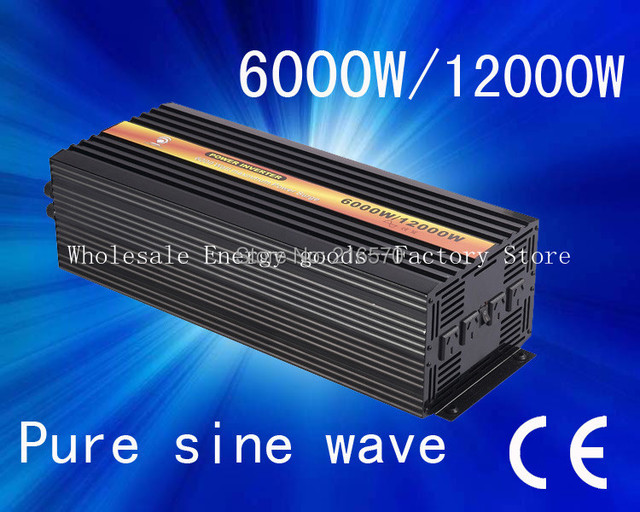Free shipping!6KW Pure Sine Wave Power Inverter 12v/230v(CTP-6000W)