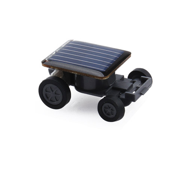 Lovely Solar Power Mini Toy Car Racer The World's Smallest Educational Gadget Children Gift ES88(China (Mainland))