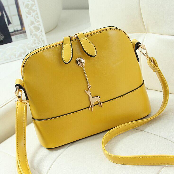 Genuine Wax Leather Crossbody Bag Ladies Women Leather Shoulder bag Fashion Tote pony pendant Women Messenger Bags clutch Bolsas(China (Mainland))