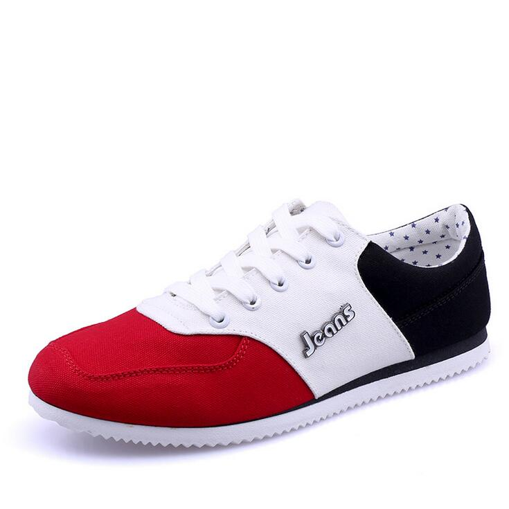 2016 New Fashion Men Shoes Lace-up Low Cut Flats Breathable Canvas Shoes Men's Casual Zapatos Gym Trainers Chaussure Lumineuse(China (Mainland))