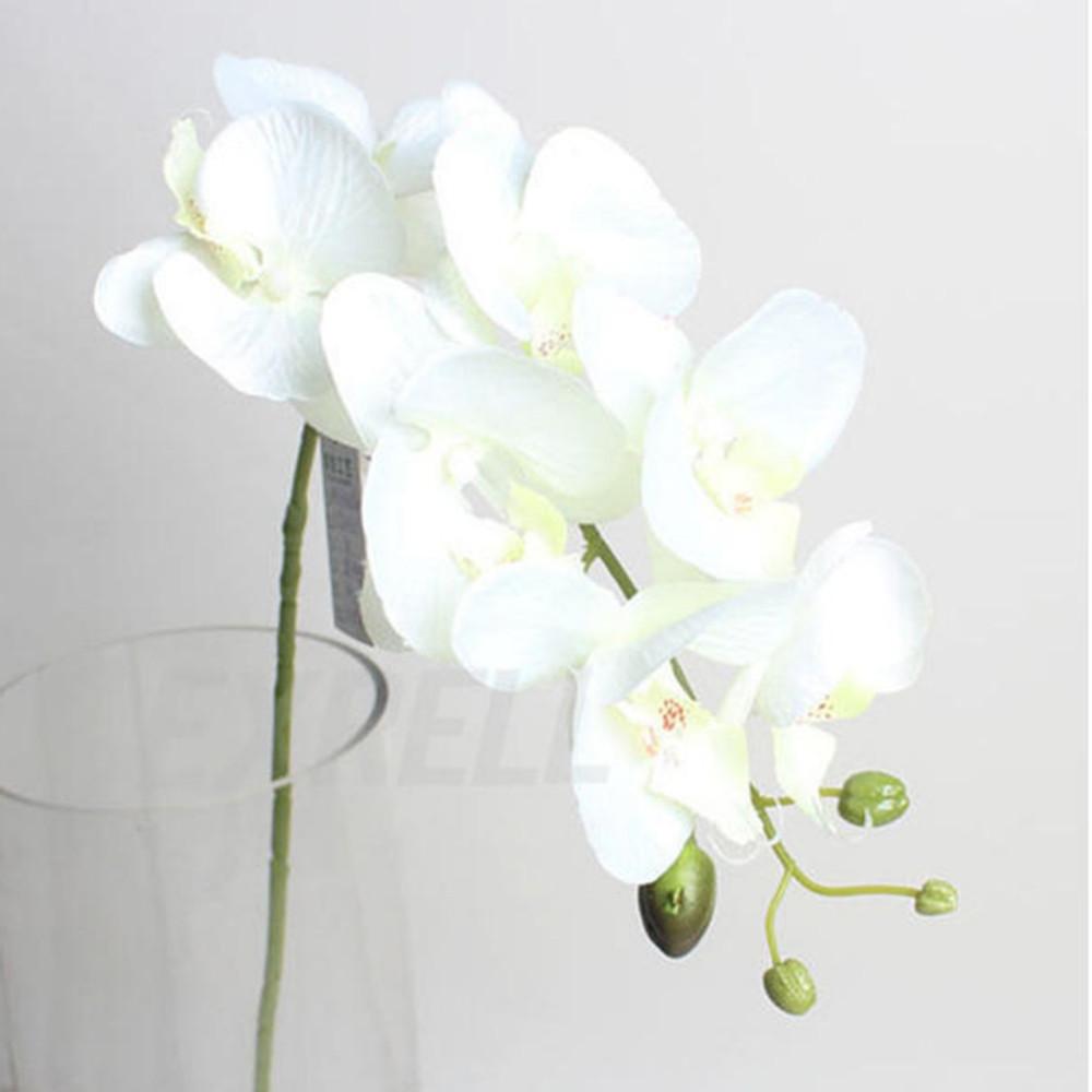 2017 Home Decor Fashion DIY Living Room Art Decoration Artificial Butterfly Orchid Silk Flower Bouquet Wedding Hot