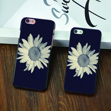 black and white Daisy Design black skin case cover cell mobile phone cases for Apple iphone 4 4s 5 5c 5s 6 6s 6plus hard shell
