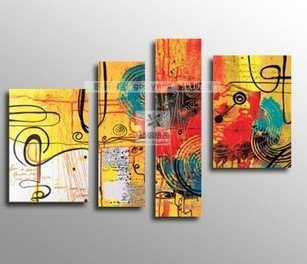 Oil painting on canvas modern music deco painting 100% handmade original directly from artist Art handmade abstract YP641(China (Mainland))
