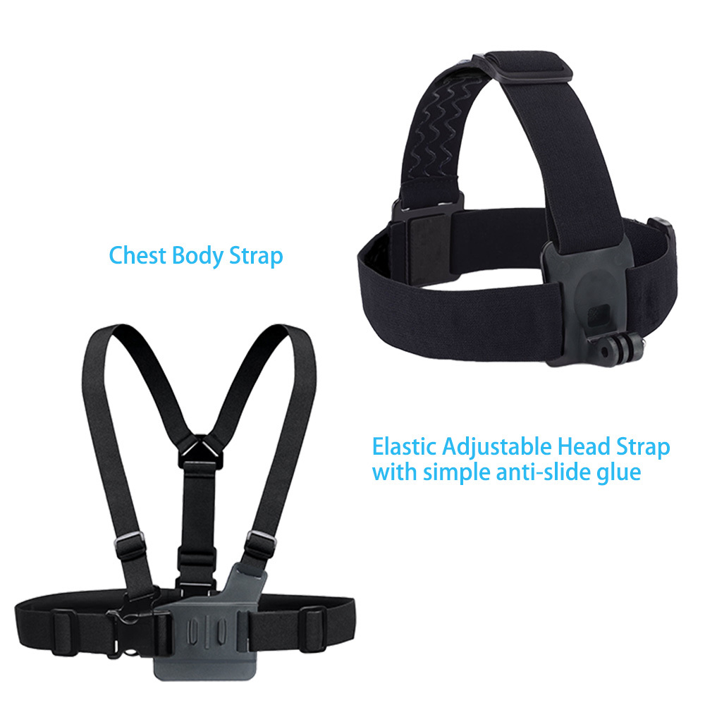 Gopro Accessories Set Helmet Harness Chest Belt Head Mount Strap Monopod Go pro hero3 Hero 4