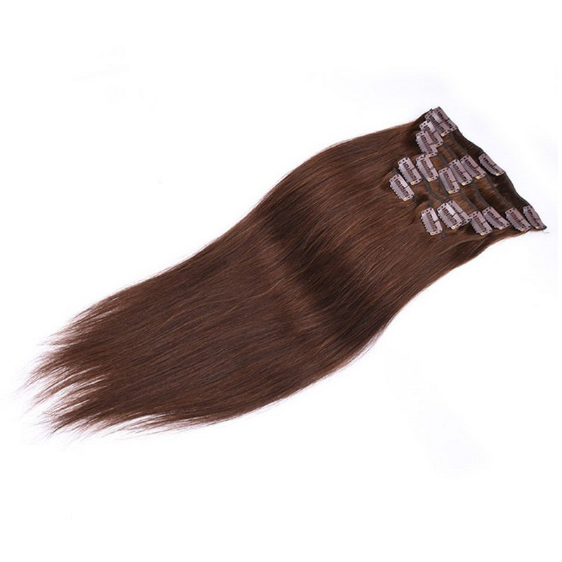 Peruvian clip ins Remy Virgin Peruvian Clip In Human Hair Extension straight  16″18″20″ 70g/set Clip In Natural Human Hair