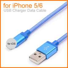 New Colorful 1M Braided USB Charger Data Cable for iPhone 5 USB Cable For iPhone 6 for iPad 5 for iPad 6 for iPad mini2