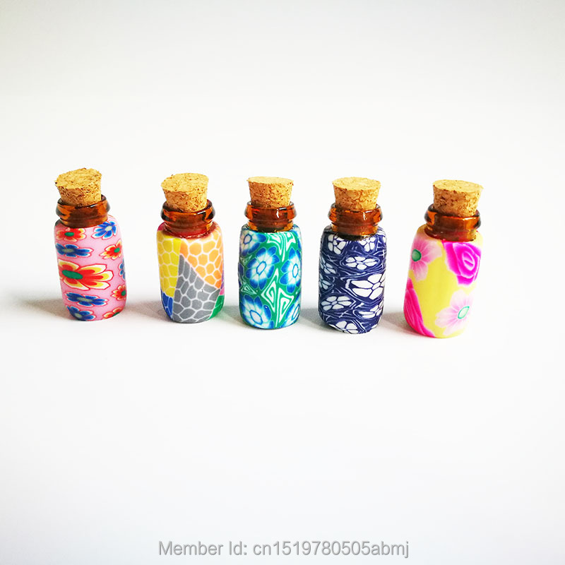 1ml DIY Polymer clay perfume bottles empty small perfume refillable bottle container free shipping essential oil bottle(China (Mainland))