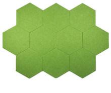 10 шт. 3D Войлок шестиугольник письмо доска для сообщений фото дисплей DIY Искусство домашний офис для планирования расписания доска украшение...(China)
