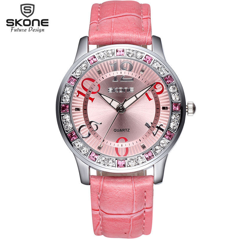Buy skone brand watch women luxury fashion casual quartz watches leather sport for Watches brands for girl