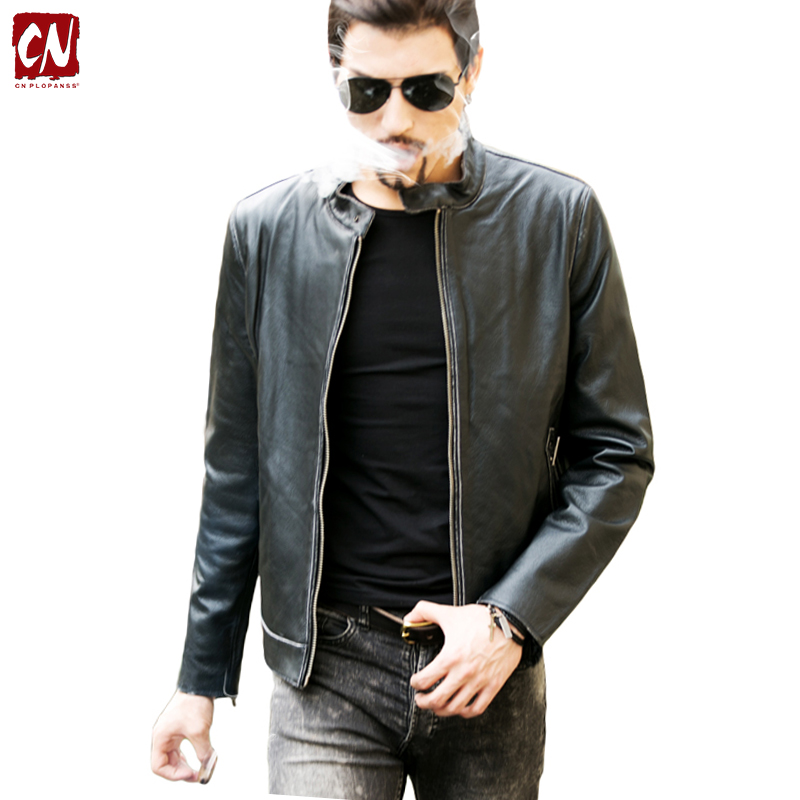 2016 new fashion Leather jacket men good quality men's leather jacket brand motorcycle jacket leather men big yards 5XL(China (Mainland))