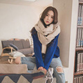 Fashion Knitted Woolen Warm Scarf Autumn And Winter Women Wraps Muffler Color Mixed