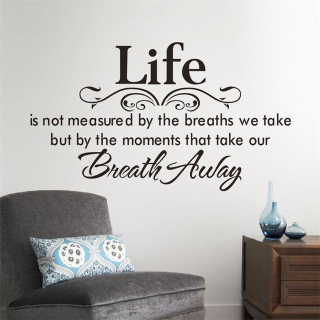 Любящих жизнь домашнего декора творческий вдохновенный цитата наклейки на стены стикера 8048 декоративные adesivo де parede съемный стикер стены винила