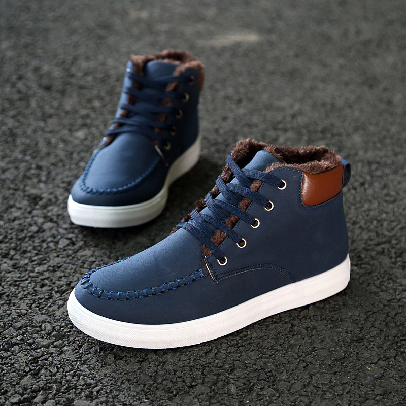 Men shoes botas masculina snow boots 2015 hot fashion PU casual Warm ankle boots Winter boots men winter shoes zapatos hombre