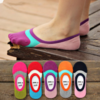 Calcetines Mujer Candy Color Bag For Contact Women's Socks Super Soft Cozy Footsie Warm Slippers Cotton Harajuku Natural