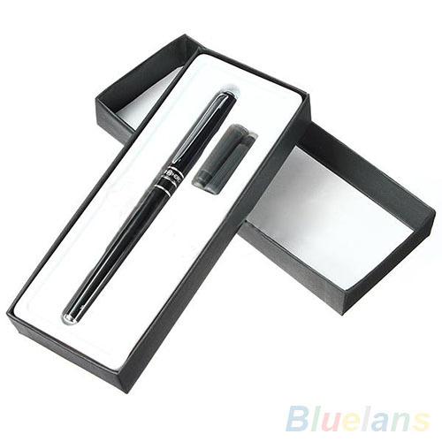 Hero Alloy Fountain Pen Golden Plated Fine Nib Point Study Office Fountain Pens 2KOE(China (Mainland))