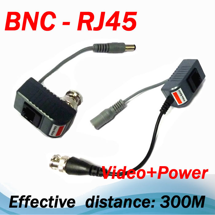 New ! CCTV RJ45 UTP Video Balun Transceiver, with Video and Power(China (Mainland))