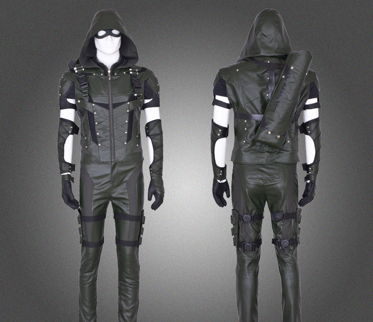 Linglong Super Hero Green Arrow Cosplay Costume Set Oliver Cosplay Costume High Quality Custom Made Hero Outfit Season4Одежда и ак�е��уары<br><br><br>Aliexpress