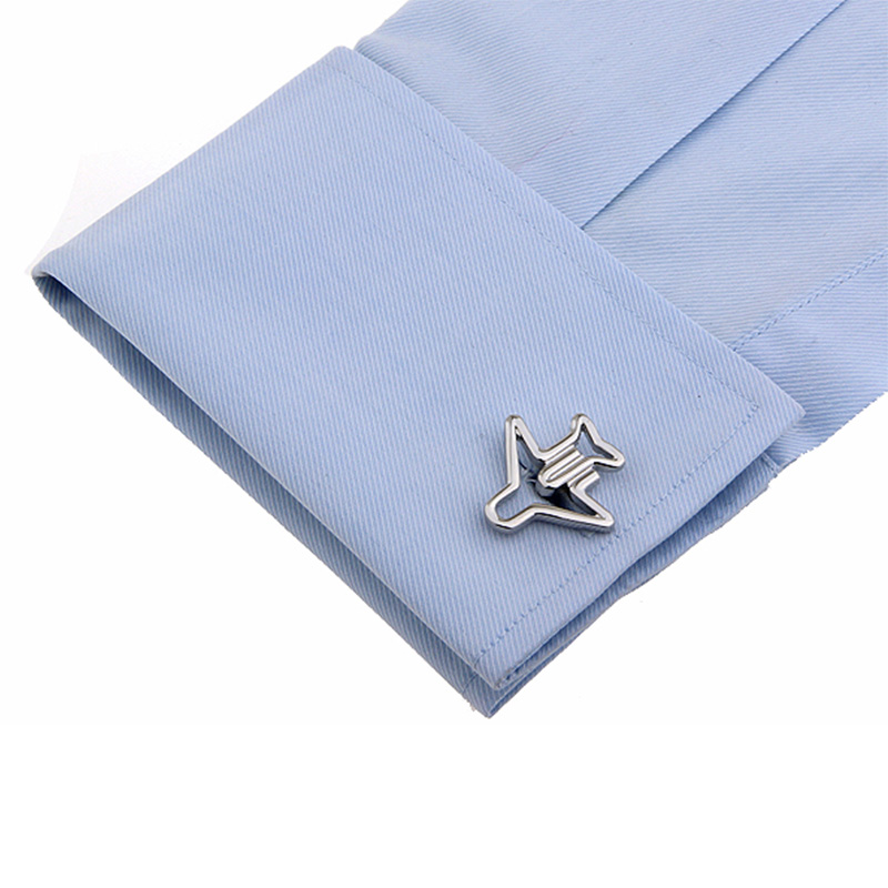 Brand New Silver Hollow Aircraft Men Shirts Cufflinks for Men's Wedding Party French Copper Cuff Link Studs Gemelos Jewelry Men(China (Mainland))