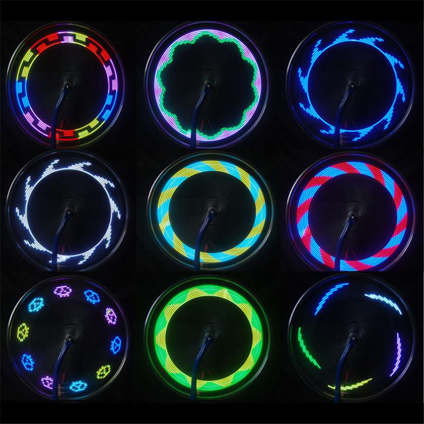 High Quality car-styling 14 LED Motorcycle Cycling Bicycle Bike Wheel Signal Tire Spoke Light 30 Changes lanterna de led moto(China (Mainland))
