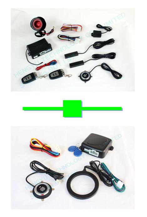 1 pcs push button engine start /PKE car alarm FS-58 keyless go + 1 pcs car engine push start /RFID engine lock FS-55 keyless go(China (Mainland))