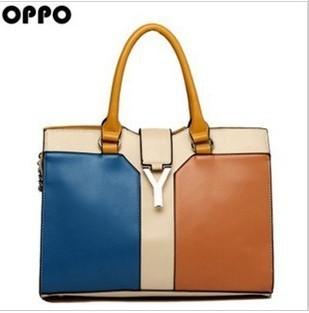 For oppo   women's handbag 9496 - 3 brief fashion vintage color block handbag cross-body messenger bag 2013