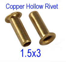 Buy 1000pcs /lot High M1.5, d*3, Lmm 1.5mm Brand New Copper Hollow Rivet Double-sided circuit board PCB vias nails for $3.88 in AliExpress store