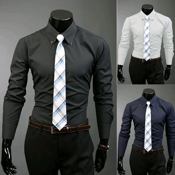 2017 Wholesale Mens Shirt Button Down Long Sleeve Formal Camisa ...