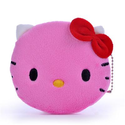 Kids Girl Women Cartoon Coin Purse Wallet Cute Hello Kitty Zipper Mini Change Plush Bag free shipping(China (Mainland))