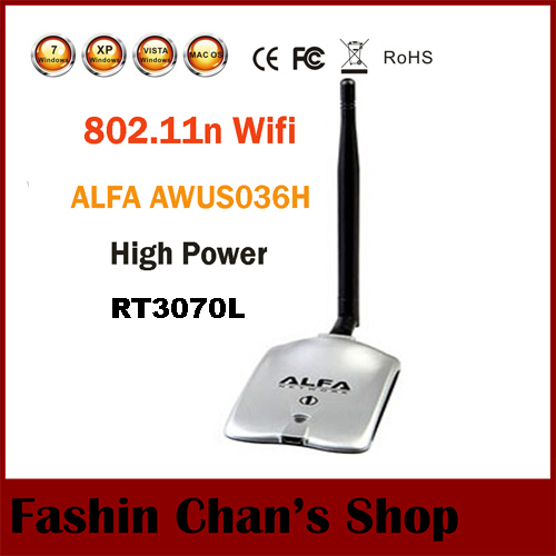 New Arrival High Tech ALFA AWUS036H 1000MW WIFI Wireless USB Network Adapter 5DB Antenna with Realtek3070L Dropshipping(China (Mainland))