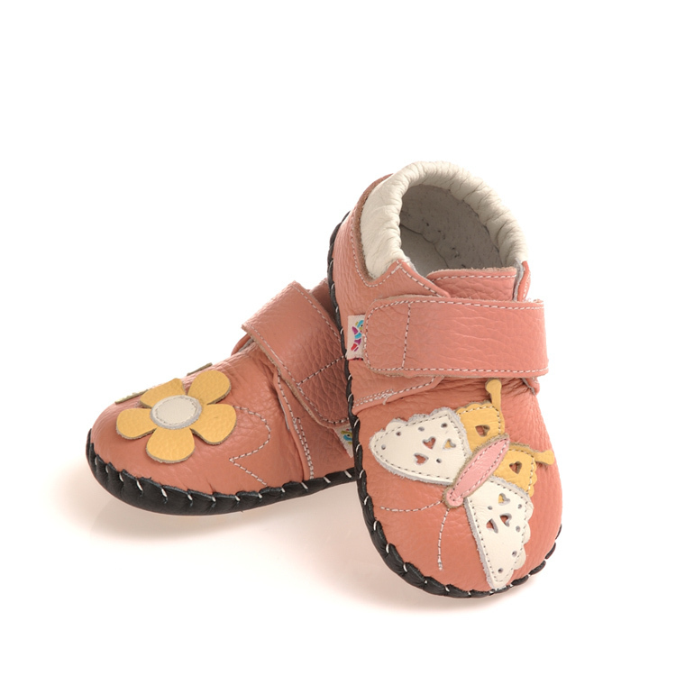 2015 infant girl shoesButterfly & Flower Design Autumn New Leather Baby Walking Shoes For Girls C-1319(China (Mainland))